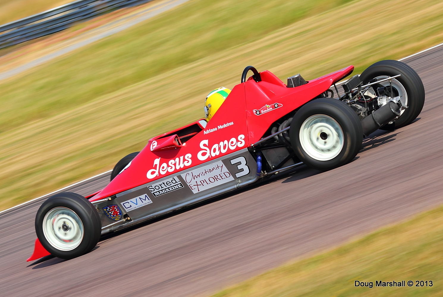 Adriano Medeiros in the Jesus Saves Racing car © Doug Marshall / Jesus Saves Racing