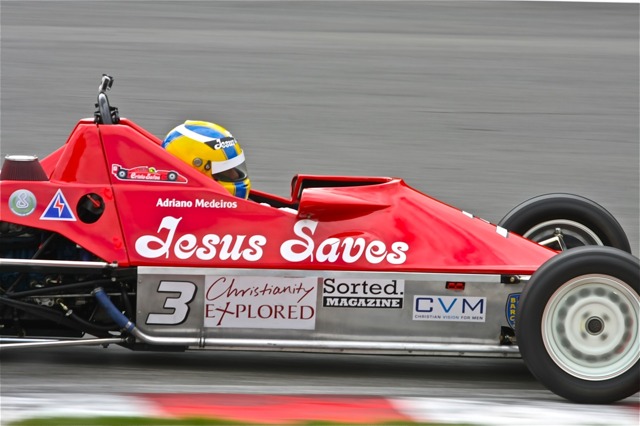 Christianity Explored, Christian Vision for Men and Sorted Magazine sponsor Jesus Saves Racing © Doug Marshall / Jesus Saves Racing